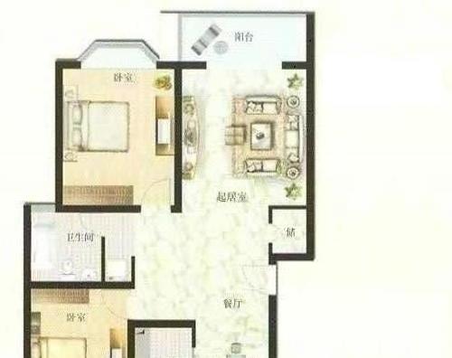 安亭沁富佳苑 2室2厅1卫 66