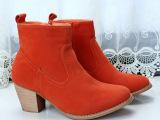 欧美原单短靴粗跟中跟骑士靴/女靴