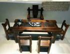 老船木海船龙骨大茶台中式复古功夫泡茶桌椅