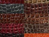 优质高光压纹石头纹皮革