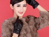 厂家加工定制 冬季绵羊皮保暖手套 高档防风真皮触屏手套特价批发