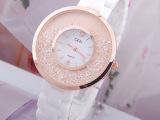 白色全陶瓷手表女表正品复古表时尚水钻表时装表带钻手表女攘钻表