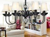 厂家批发美式吊灯5折 北欧式宜家田园灯具 卧室客厅铁艺灯饰810