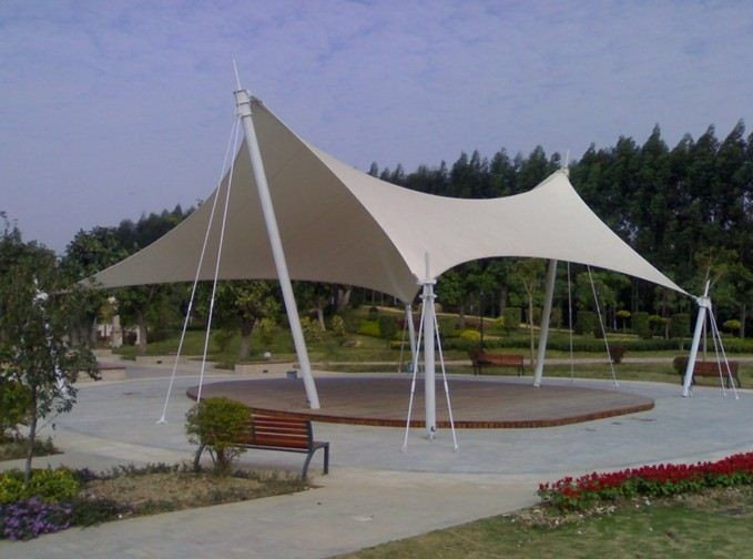 景观棚膜结构 大型体育看台 膜结构雨篷棚发厂家