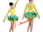 拉丁比赛服 儿童表演服 规定服 少儿基舞服 连体裙 可订做7006
