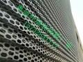 冲孔铝单板幕墙网/奥迪外墙装饰菱形孔铝板