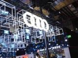 上海车展奥迪发光标识 大型立体车标 奥迪汽车标志