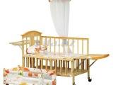 醒目仔303婴儿床实木无漆环保多功能摇床 宝宝童床带蚊帐