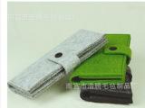 羊毛毡长款钱包 卡包 按扣式简约创意加厚钱包