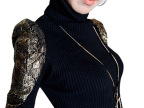 2014秋冬新款女装韩版修身打底毛衣高领套头针织衫时尚百搭通勤