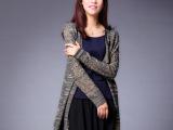 原创设计2015新款秋装长袖毛衣 长款针织开衫外套 女式羊毛衫