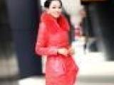 厂家直销 海宁皮革城专柜同步上新 真皮贴牌加工 女皮羽绒服F12