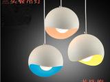 简约现代三头餐厅吊灯吧台灯咖啡厅餐吊灯个性创意铝材灯