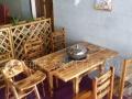 厂家直销:火焰鹅餐厅桌椅,农庄桌椅,醉鹅餐厅桌椅,碳化防腐木