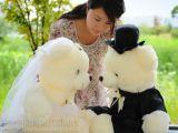 贵扬玩具毛绒公仔婚纱熊 情侣泰迪熊 对熊结婚娃娃 婚庆礼物
