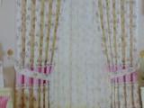 窗帘布厂家直销 田园拼接窗帘 客厅卧室特价窗帘成品