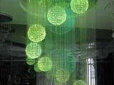 厂家直销七彩光纤灯 光纤水晶吊灯 款式新