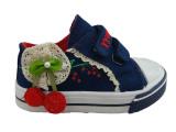 童鞋代理批发一件代发秋款魔术贴帆布鞋 品牌女童鞋
