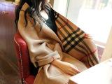 爆款厂家 经典英伦风仿羊毛羊绒格子 双面大口袋 保暖披肩批发
