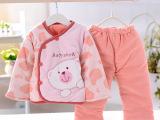 批发棉服两件套 汤博士1013 婴儿冬季加厚外套 宝宝夹棉保暖棉衣