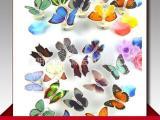 厂家直销仿真发光蝴蝶可贴 七彩光纤蝴蝶 地摊夜市热卖 婚庆用品