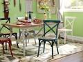 美式乡村铁艺餐桌椅定制厂家 复古家用咖啡厅铁艺椅子定做厂家