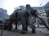 巨象来袭,双层可载人游玩机械大象,全国出租出售