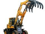 輪式抓木機360度旋轉抓木機裝載機械廠家龑