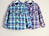 【青岛童装】秋冬新款童衬衫韩版男童格子保暖加绒衬衫儿童上衣