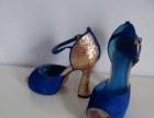 蓝色鱼嘴凉鞋,37码的,九九成新。