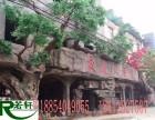 北京延庆 河北怀来县水泥假山假树大门 仿木栏杆 影视基地造景