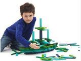 [热]拼装积木 冷色益智木制玩具 早教积木玩具 原单拼装积木批发