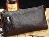 路易韦恩厂家直销 纯牛皮手包 时尚手拿包 男士休闲手包