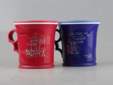 500趣巧情侣水杯 高品质带手柄塑料杯创意卡通杯子 环保耐摔茶杯