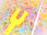 韩国diy皮筋手链 彩虹橡皮筋手链批发 韩国时尚夜光编织手环40