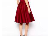 时尚外贸新品双插袋打褶高腰光泽潜水面料短裙半身裙 A字裙L062