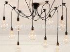 地中海吊灯 欧式现代简约客厅餐厅灯创意多头铁艺灯具灯饰