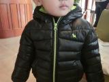 2015秋冬款新款童装 儿童羽绒棉纯色加厚棉衣 小童宝宝棉服