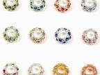 DIY手工饰品材料 水钻彩钻隔珠批发 串手珠项链吊坠配件材料