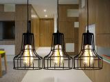 工业吊灯美式复古创意个性现代简约铁艺客厅单头餐厅餐吊灯具三头