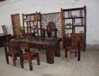 供应老船木茶桌茶台功夫茶几中式仿古实木家具客厅船木茶桌椅组合