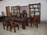 直销中山好用的船木茶 老船木茶桌椅组合批发老船木实木茶台