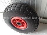 手推车轮子 充气轮 橡胶轮胎,塑料轮辐 -供应橡胶充气轮10X3