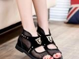 2014欧洲站最新款鞋镂空靴子夏天女凉鞋女平跟学生韩版柳丁潮鞋女