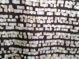 欧美大牌 弹力缎面仿真丝几何花型 连衣裙衬衫面料 不透
