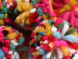 儿童糖果色 彩色毛毛球百搭 保暖 毛线围巾 多色