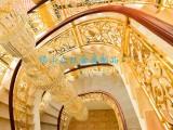 众钰供应欧式铝艺雕刻楼梯扶手 2017豪华装饰楼梯护栏定制