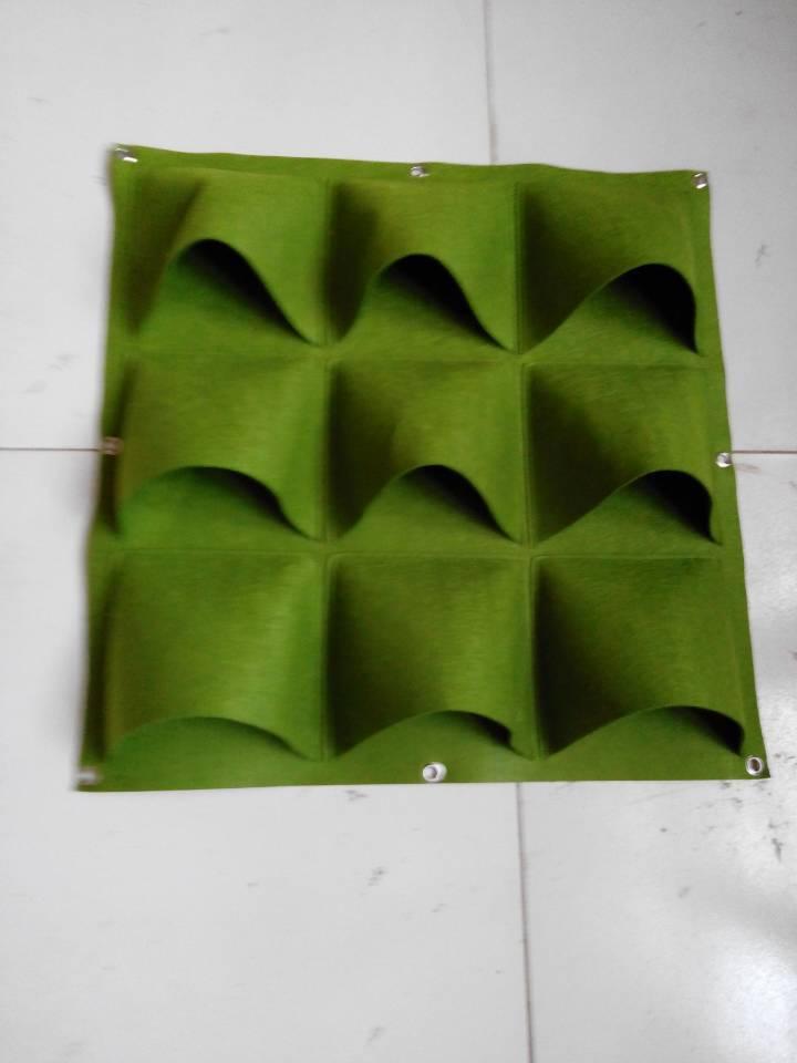福运毛毡供应 贴膜防水毛毡植植物墙   供应防水种植袋