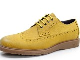 厂家直销批发2014韩版男鞋新款真皮英伦鞋潮流雕花布洛克鞋子