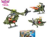 6110开智益智拼装玩具积木优质爆款军事系列-小狐直升机80